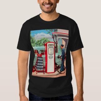 Vintage Retro Kitsch Gasoline Station Filler Up Tee Shirt
