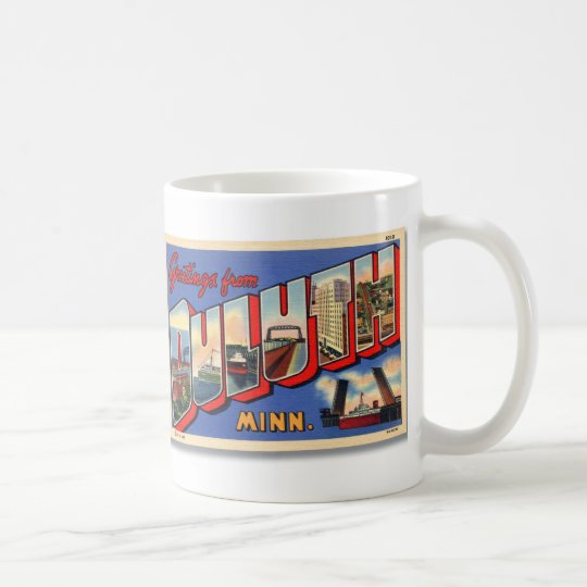 Vintage Retro Kitsch Greetings From Duluth MN Coffee Mug