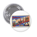Vintage Retro Kitsch Greetings From Duluth MN Pin