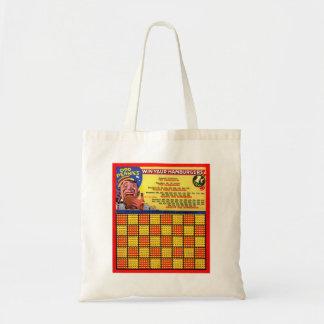 Vintage Retro Kitsch Hamburger Odd Pennies Punch Tote Bag