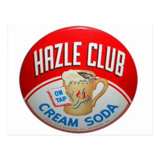 Vintage Retro Kitsch Hazle Club Club Soda Sign Post Card