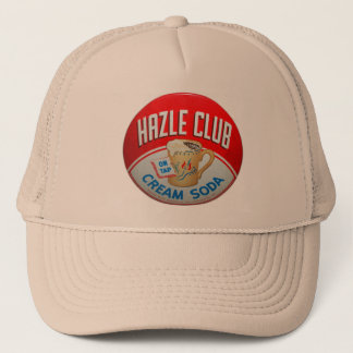 Vintage Retro Kitsch Hazle Club Club Soda Sign Trucker Hat
