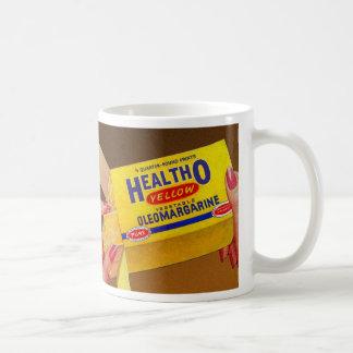 Vintage Retro Kitsch Healtho Margarine Butter Coffee Mug