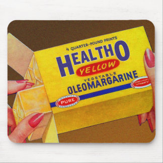 Vintage Retro Kitsch Healtho Margarine Butter Mouse Pad