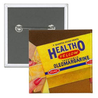 Vintage Retro Kitsch Healtho Margarine Butter Pinback Button