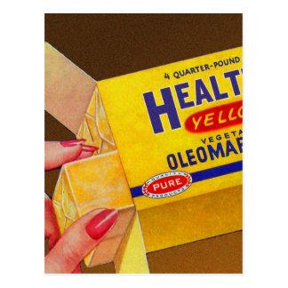 Vintage Retro Kitsch Healtho Margarine Butter Postcard