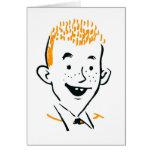 Vintage Retro Kitsch Irish Redhead 'Ginger Boy' Card