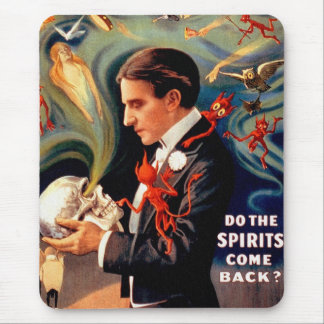 Vintage Retro Kitsch Magic Thurston Ghosts Spirits Mouse Pad