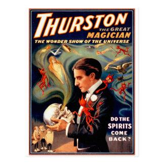 Vintage Retro Kitsch Magic Thurston Ghosts Spirits Postcard