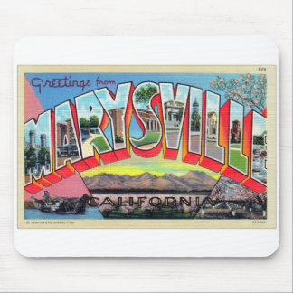 Vintage Retro Kitsch Marysville CA Letter Postcard Mouse Pad