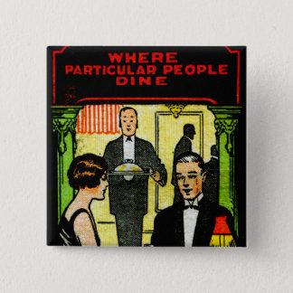 Vintage Retro Kitsch Match Art 30s Dinner Dining Button