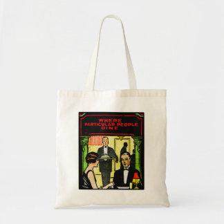 Vintage Retro Kitsch Match Art 30s Dinner Dining Tote Bag