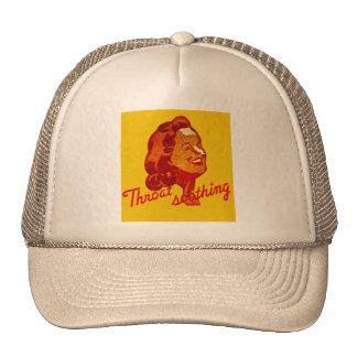 Vintage Retro Kitsch Match Art 30s Throat Drops Trucker Hat