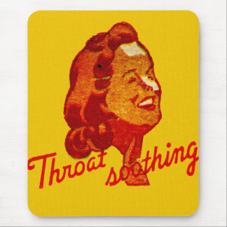 Vintage Retro Kitsch Match Art 30s Throat Drops Mouse Pad
