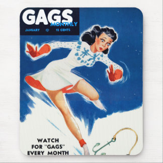 Vintage Retro Kitsch Mens Man Magazine Pin Up Gags Mouse Pad