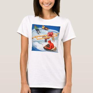 Vintage Retro Kitsch Motorized Kid's Skating Rink T-Shirt