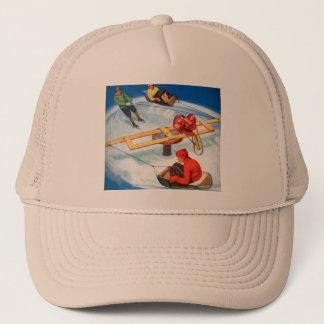Vintage Retro Kitsch Motorized s Skating Rink Trucker Hat
