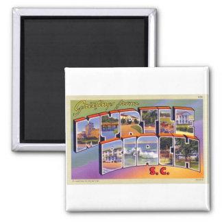 Vintage Retro Kitsch Myrtle Beach SC Postcard 2 Inch Square Magnet