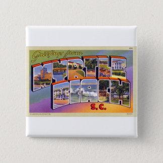 Vintage Retro Kitsch Myrtle Beach SC Postcard Button