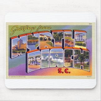 Vintage Retro Kitsch Myrtle Beach SC Postcard Mouse Pad