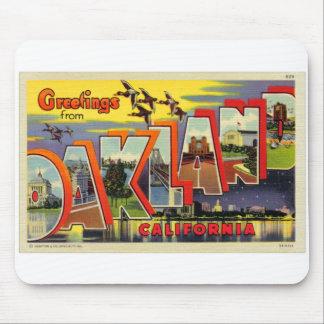 Vintage Retro Kitsch Oakland Big Letter Postcard Mouse Pad