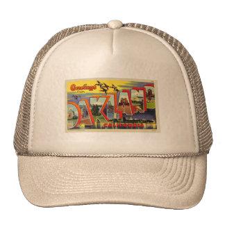 Vintage Retro Kitsch Oakland Big Letter Postcard Trucker Hat