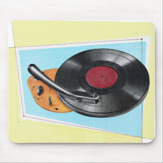Vintage Retro Kitsch Phonograph Record Player Mouse Pad