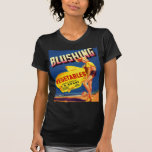 Vintage Retro Kitsch Pin Up Fruit Crate Blushing T-Shirt