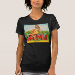 Vintage Retro Kitsch Pin Up Fruit Crate Irma T-Shirt