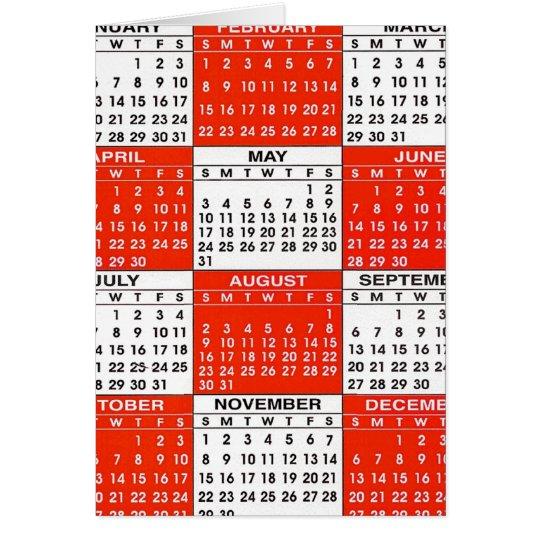Vintage Retro Kitsch Pop Art 365 Calendar Card