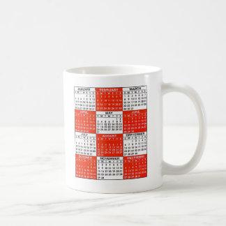 Vintage Retro Kitsch Pop Art 365 Calendar Classic White Coffee Mug