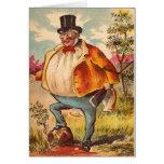 Vintage Retro Kitsch Postcard Orange County Man Greeting Card