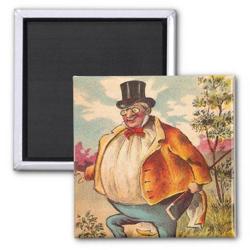 Vintage Retro Kitsch Postcard Orange County Man Fridge Magnets