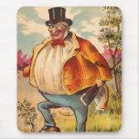 Vintage Retro Kitsch Postcard Orange County Man Mouse Pad