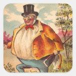 Vintage Retro Kitsch Postcard Orange County Man Sticker