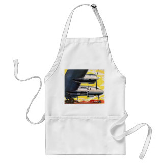 Vintage Retro Kitsch Prop Airplane 60s Airliner Adult Apron