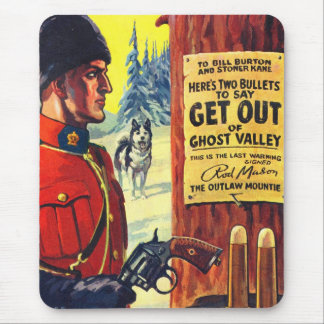 Vintage Retro Kitsch Pulp Magazine Outlaw Mountie Mouse Pad