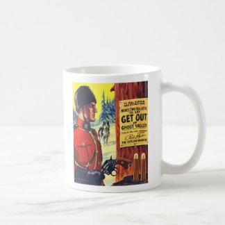 Vintage Retro Kitsch Pulp Magazine Outlaw Mountie Coffee Mug