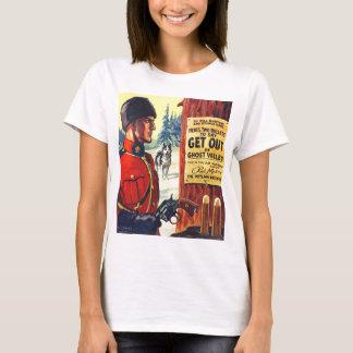 Vintage Retro Kitsch Pulp Magazine Outlaw Mountie T-Shirt