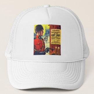 Vintage Retro Kitsch Pulp Magazine Outlaw Mountie Trucker Hat