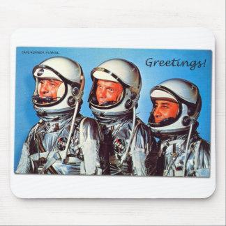 Vintage Retro Kitsch Sci Fi NASA Astronaut Card Mouse Pad