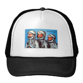Vintage Retro Kitsch Sci Fi NASA Astronaut Card Trucker Hat