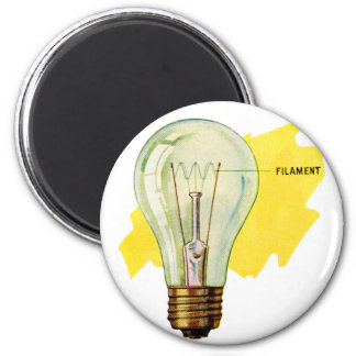 Vintage Retro Kitsch Science Incandescent Bulb Magnet