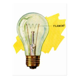 Vintage Retro Kitsch Science Incandescent Bulb Postcard