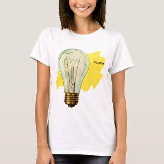 Vintage Retro Kitsch Science Incandescent Bulb T-Shirt