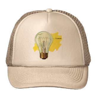 Vintage Retro Kitsch Science Incandescent Bulb Trucker Hat