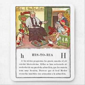 Vintage Retro Kitsch Spanish Historia Children's Mouse Pad