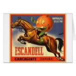 Vintage Retro Kitsch Spanish Oranges Fruit Label Card