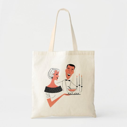 Vintage Retro Kitsch Suburbs 60s Cocktail Party Tote Bag