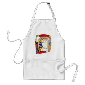 Vintage Retro Kitsch Suburbs Food Stuffed Fridge Adult Apron